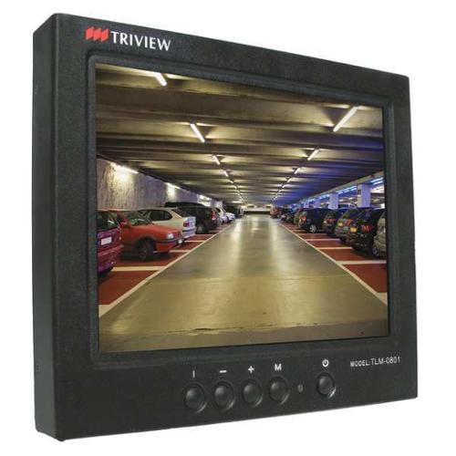 Tatung TLM-0801 CCTV Monitor, LCD, Black, 12VDC, 8 in.