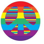 Fun Rugs Fun Time Peace Round Rug, Multi-Color