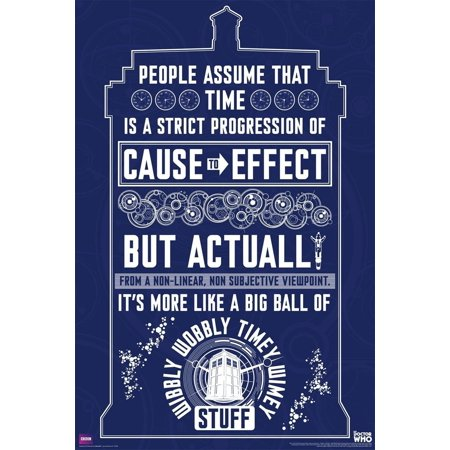 Doctor Who Wibbly Wobbly Timey Wimey Quote Tardis 36x24 Art Print Poster Wall Decor Illustration Sci Fi British TV Television Show..., By Culturenik Ship from (Best Sci Fi Tv Shows Of All Time)