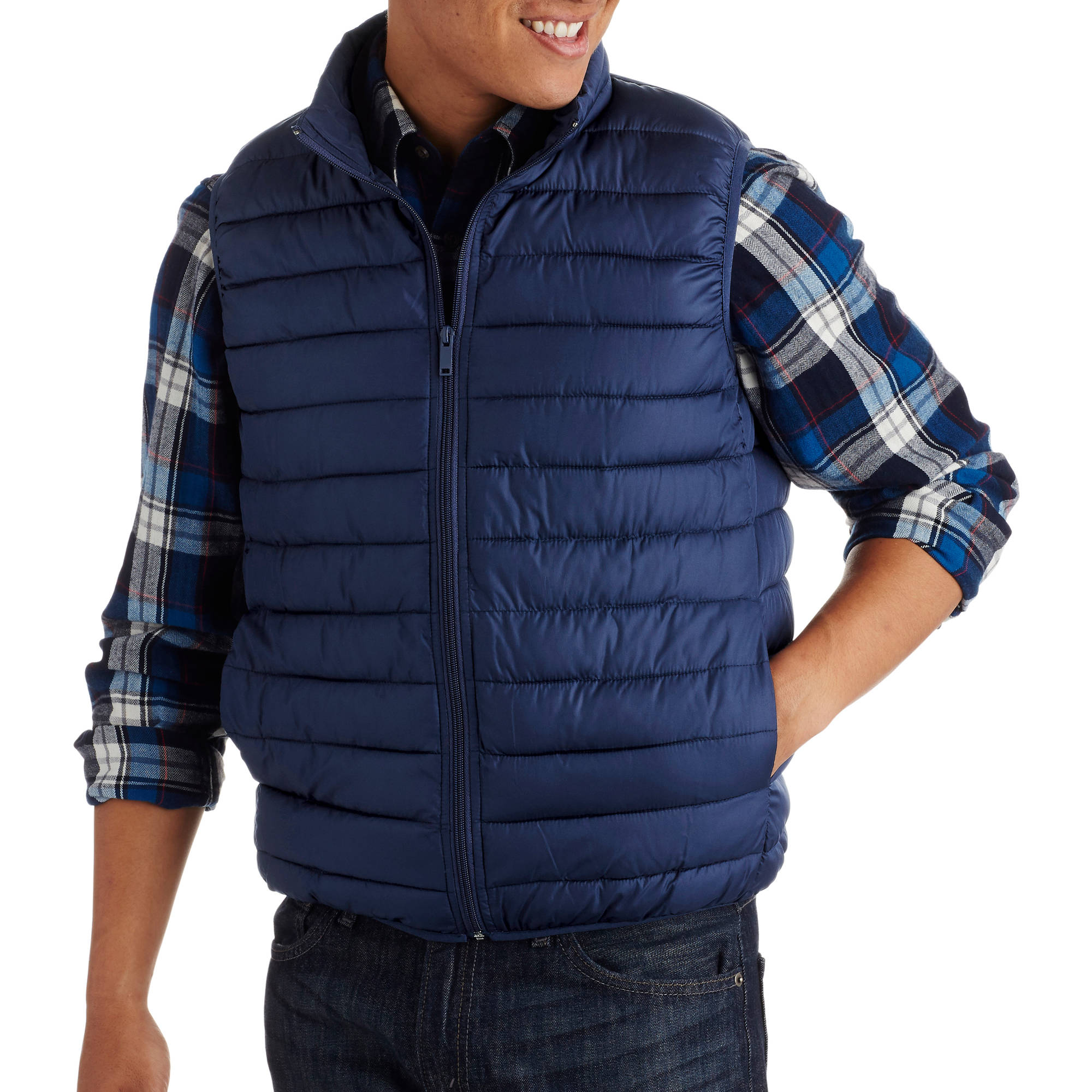 Big Men's Packable Faux Down Vest