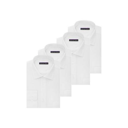 93b21cd0d8c Geoffrey Beene - MEN S 4PC. SET REGULAR FIT SATEEN SOLID DRESS SHIRT -  Walmart.com