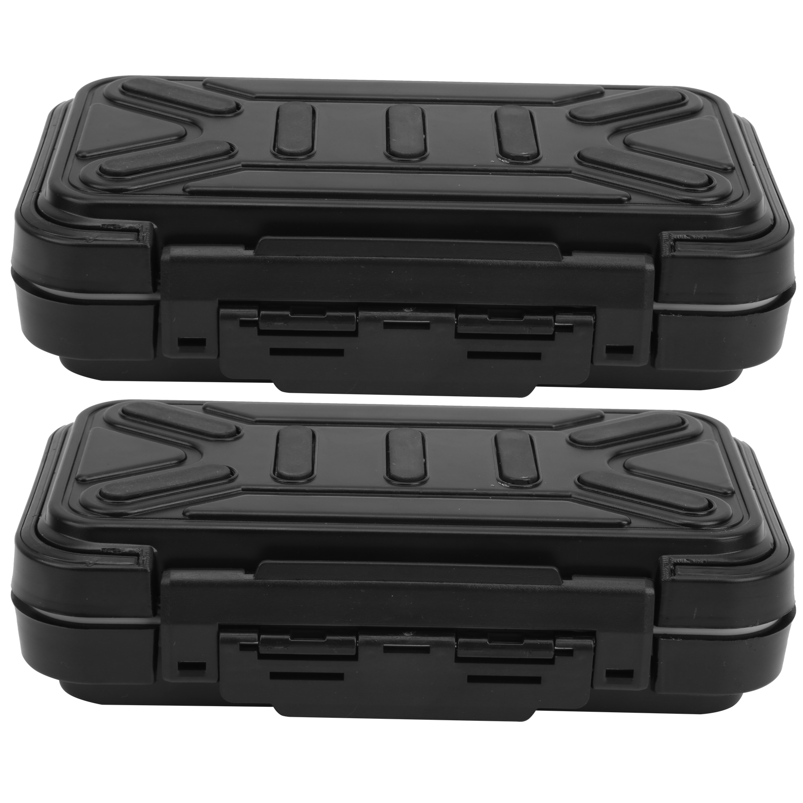 2Pcs Portable Waterproof Fishing Bait Case ABS Rubber Wearproof Storage Box New