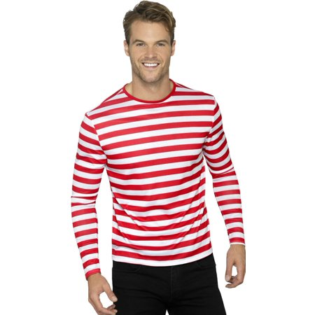 Mens Red And Whte Stripey Can't Find Me Guy Costume](Find Costume Coupon)