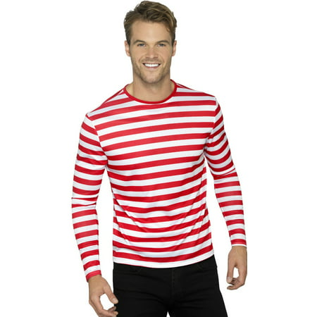 Mens Red And Whte Stripey Can't Find Me Guy Costume](Scary Guy Costumes)