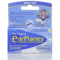 Original EarPlanes by Cirrus Healthcare Earplug for Airplane Travel Ear Protection (1 Pair)