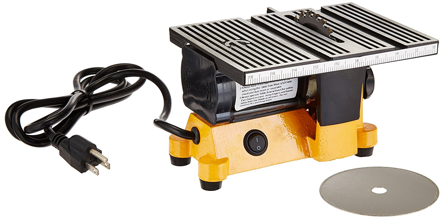 TurePower Mini Electric Table Saw, 4 in by