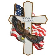 God Bless America Cross: Soaring Eagle, Hang on The Wall