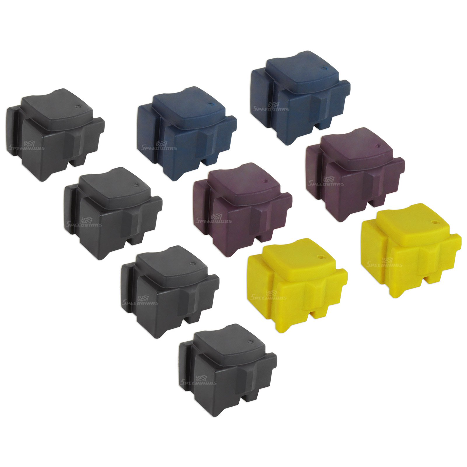 Speedy Inks - Compatible Replacements for Xerox Set of 10 Solid Ink Sticks Includes: 4 108R00929 Black, 2 108R00926 Cyan, 2 108R00927 Magenta, and 2 108R00928 Yellow for use in Xerox ColorQube