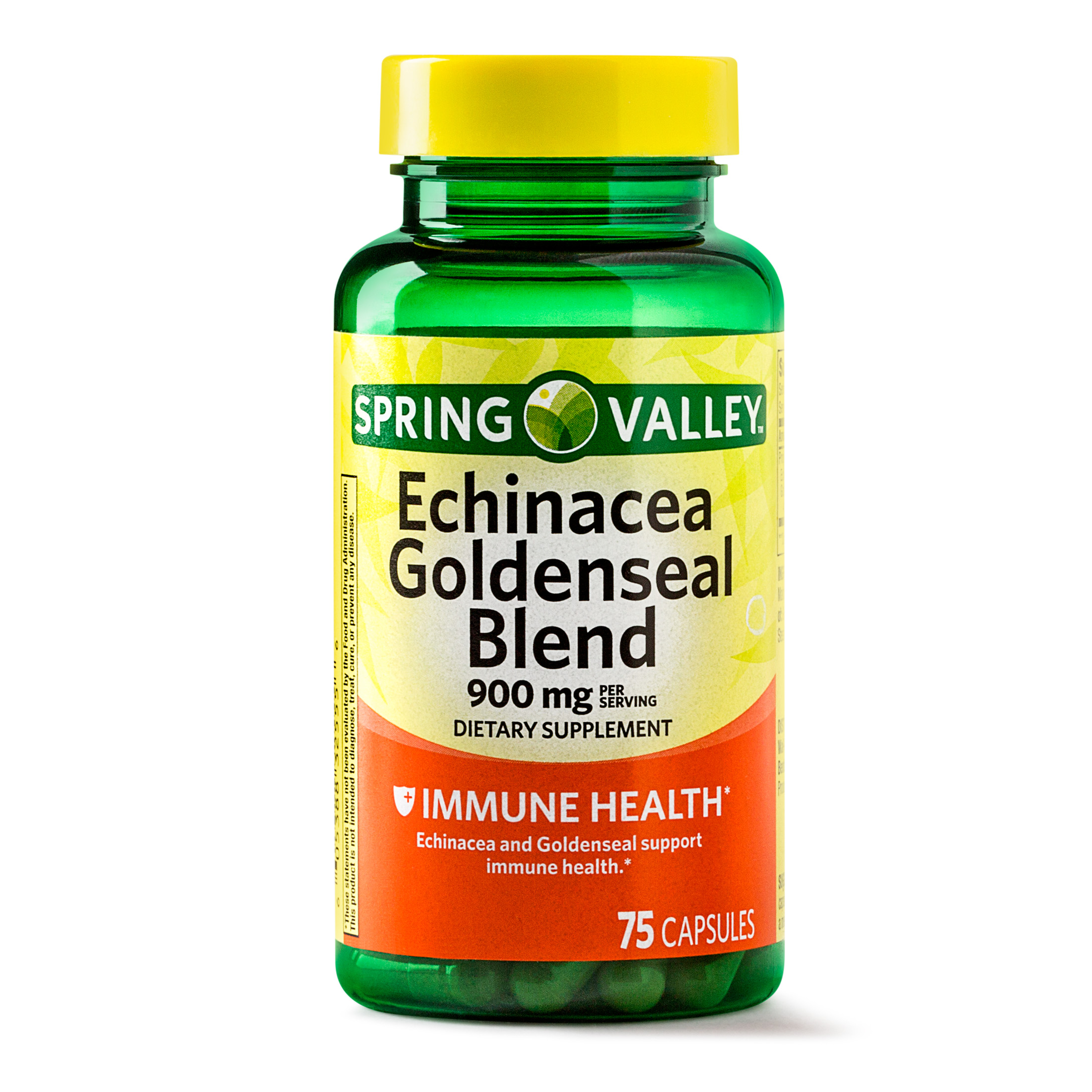 Spring Valley Echinacea Goldenseal Blend Capsules, 900 mg, 75 Ct