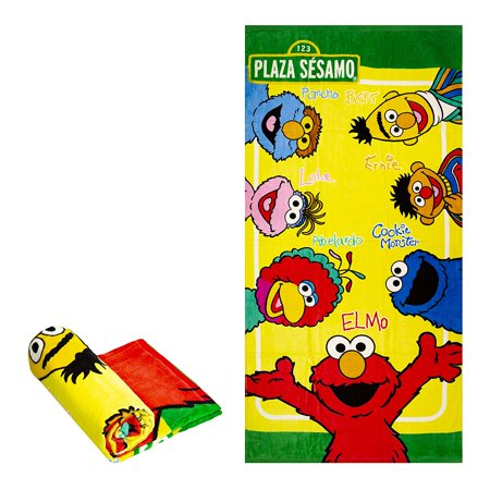 Sesame Street Bert And Ernie (Sesame Street Plaza Sesamo Elmo Ernie Bert Cookie Monster and Friends Fiber Reactive Beach Towel )