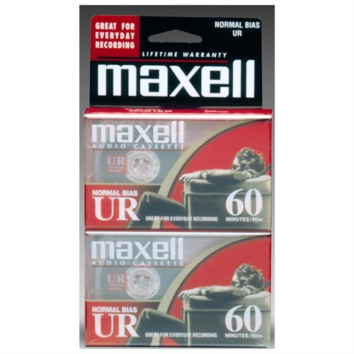 Maxell Ur Type I Audio Cassette - 2 X 60minute(s) - Normal Bias