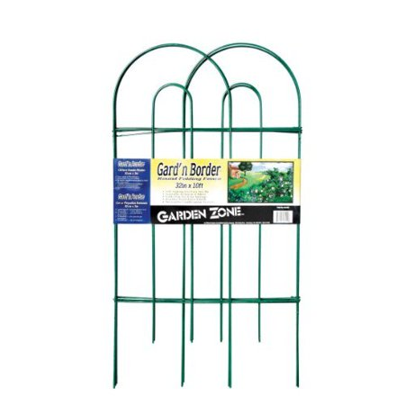 Origin Point 043210 Gard'n Border Round Folding Fence, Green, 32-Inch x - Border Green Scalloped