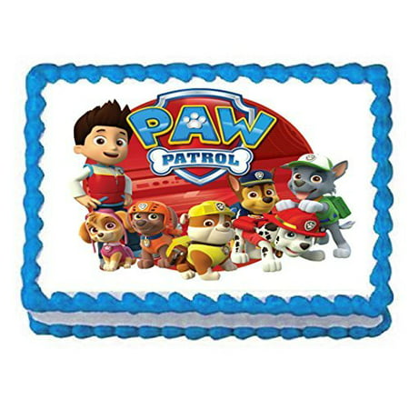 Paw Patrol on tour 1/4 Sheet Edible Frosting Photo Birthday Cake Topper. ~ Pesonalized! - Dallas Cowboys Birthday Cake