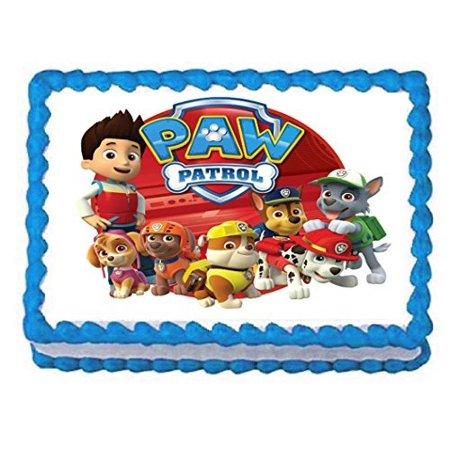 Paw Patrol on tour 1/4 Sheet Edible Frosting Photo Birthday Cake Topper. ~ Pesonalized! - Birthday Cake Letters