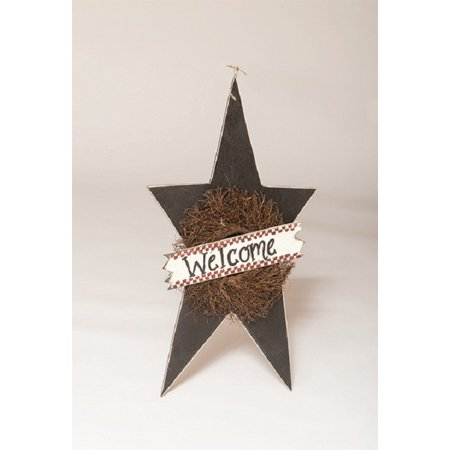 - Furniture Barn USA™ Primitive Rustic Decorative X- Large Hanging Star with Wreath and Welcome Sign