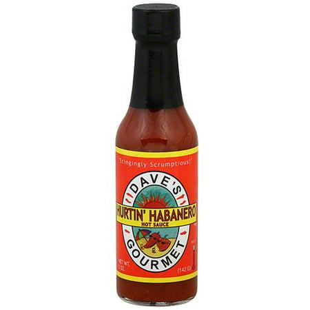 Dave's Gourmet Hurtin' Habanero Hot Sauce, 5 oz (Pack of 12) Daves Gourmet Insanity Hot Sauce