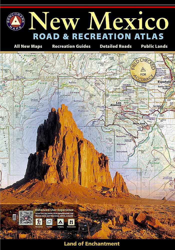 Atlases New Mexico Benchmark Road Recreation Atlas Paperback