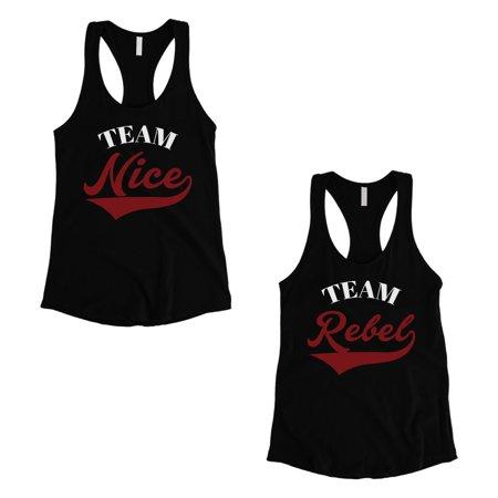 Team Nice Team Rebel Best Friend Tank Tops Womens Workout (Best Post Workout Food Women)