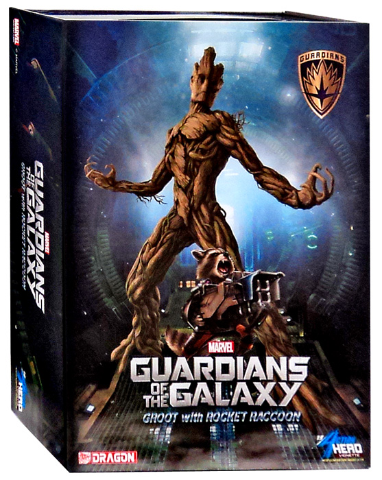 Dragon Models 1 9 Scale Guardians of The Galaxy Groot with Rocket Raccoon Action Hero... by Dragon Models