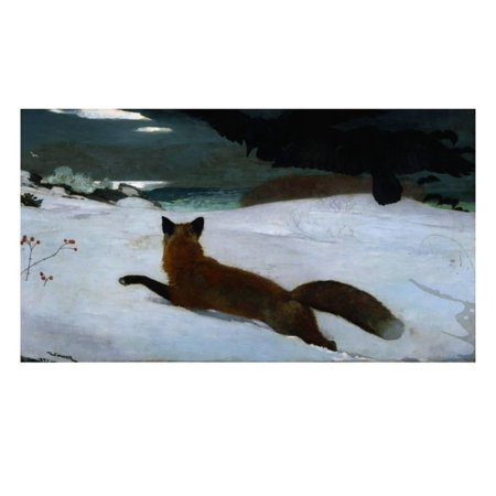 Fox Hunt Scene - The Fox Hunt Print Wall Art By Winslow Homer
