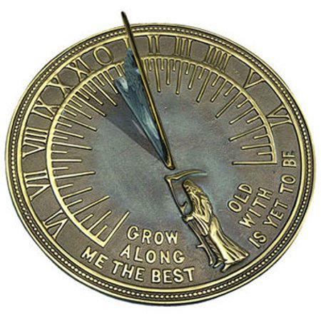 Rome Rome Father Time Sundial - Solid Brass with Verdigris Highlights