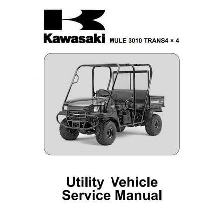 Kawasaki Mule 3010 Trans 4x4 KAF620J/K Service Shop Manual