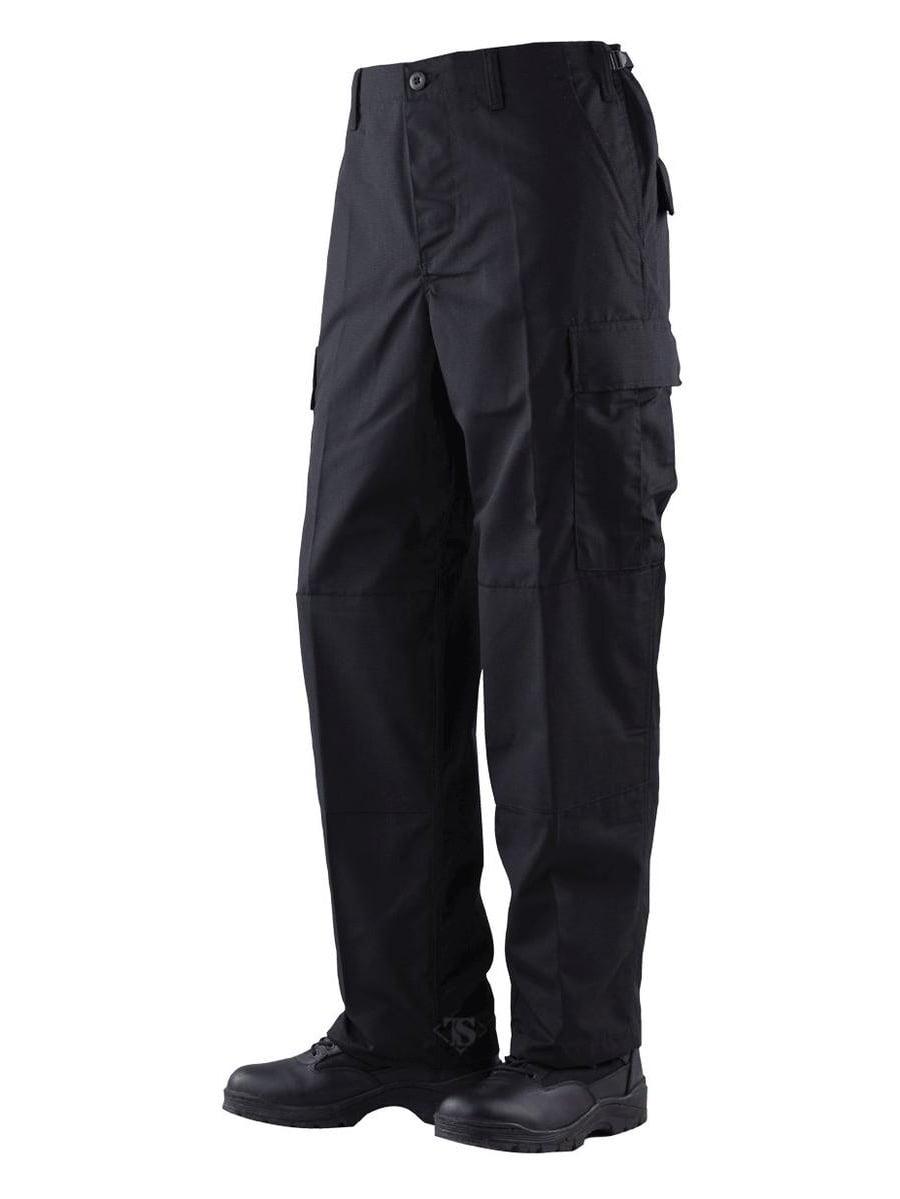 1523 Mens BDU Pants, Cotton Rip-Stop, Black