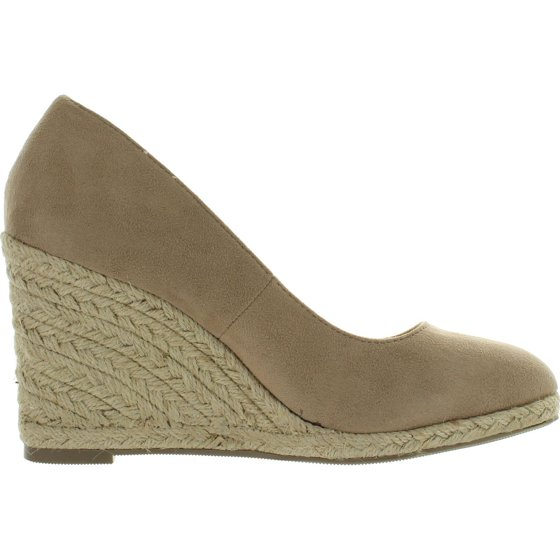 Womens Parma Wedge Espadrille Delicious Round Sandals Toe On Slip rdQsothCBx