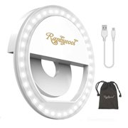 Selfie Ring Light for Phone, Clip-on Selfie Light RechargeHle 36 LED for iPhone Samsung Galaxy Cellphones Photography Camera-White