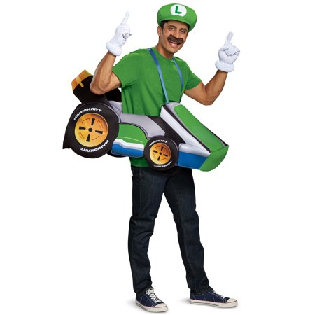 Super Mario Bros. Luigi Kart Adult Halloween Costume