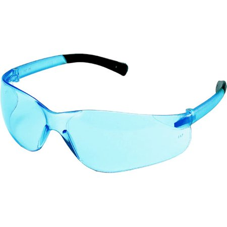 Crews Bearkat MINI Safety Glasses with Light Blue Lens (Blue Mirror Safety Glasses)