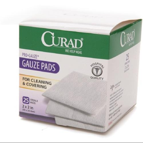"Curad Sterile Pro Gauze Pads 2"" x 2""  25 ea (Pack of 2)"