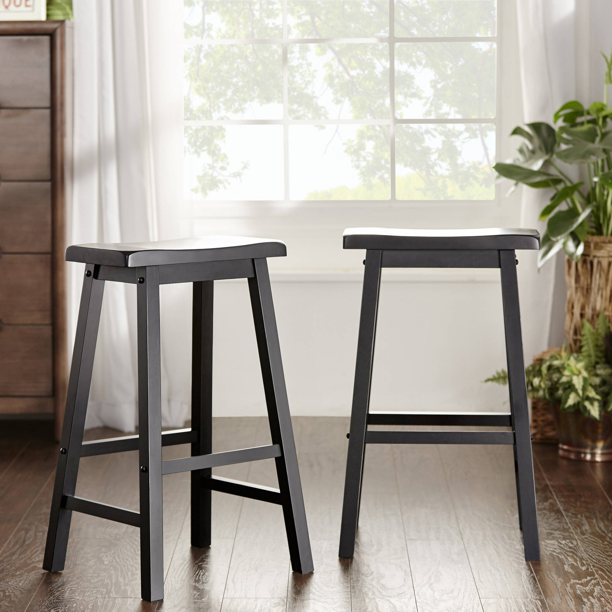 Weston Home 29 Quot H Saddleback Stool Set Of 2 Multiple
