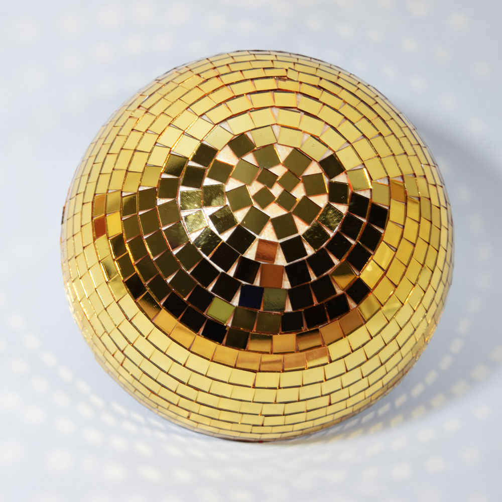 "8"" Gold Half Dome Centerpiece Disco Mirror Ball for Dance Party by Asian Import Store, Inc."