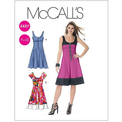 McCall's Pattern Misses', Miss Petite, Women's and Women's Petite Dresses, B5 (8, 10, 12, 14, 16)
