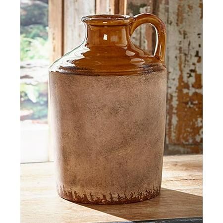 Rustic Ceramic Pottery Vase Barrel