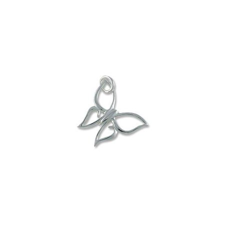 Butterfly Charm for Jewelry Making - 17x19mm Sterling Silver (1-Pc)