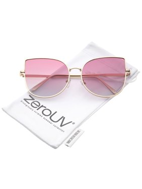 388d429a93d Product Image zeroUV - Women s Oversize Slim Metal Frame Gradient Colored  Flat Lens Cat Eye Sunglasses - 58mm