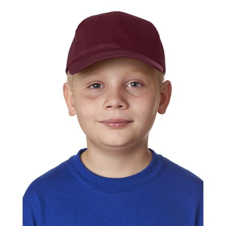 Ultraclub 8122 Youth Classic Cut Cotton Twill6-Panel - Ultimate Cotton Cap