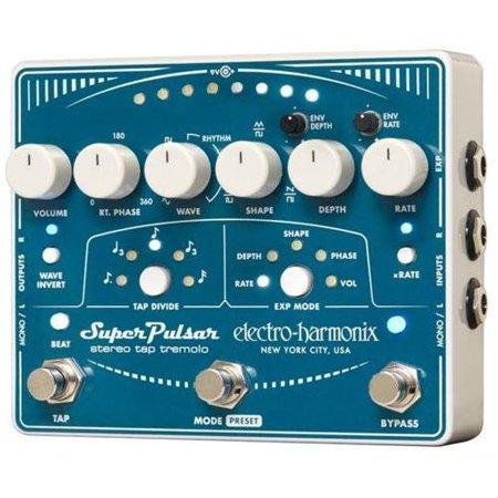 Electro-Harmonix Super Pulsar Stereo Tap Tremolo Guitar Effect Pedal