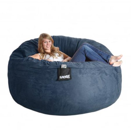 Slacker Sack Navy Blue 6 Foot Microfiber And Memory Foam Bean Bag