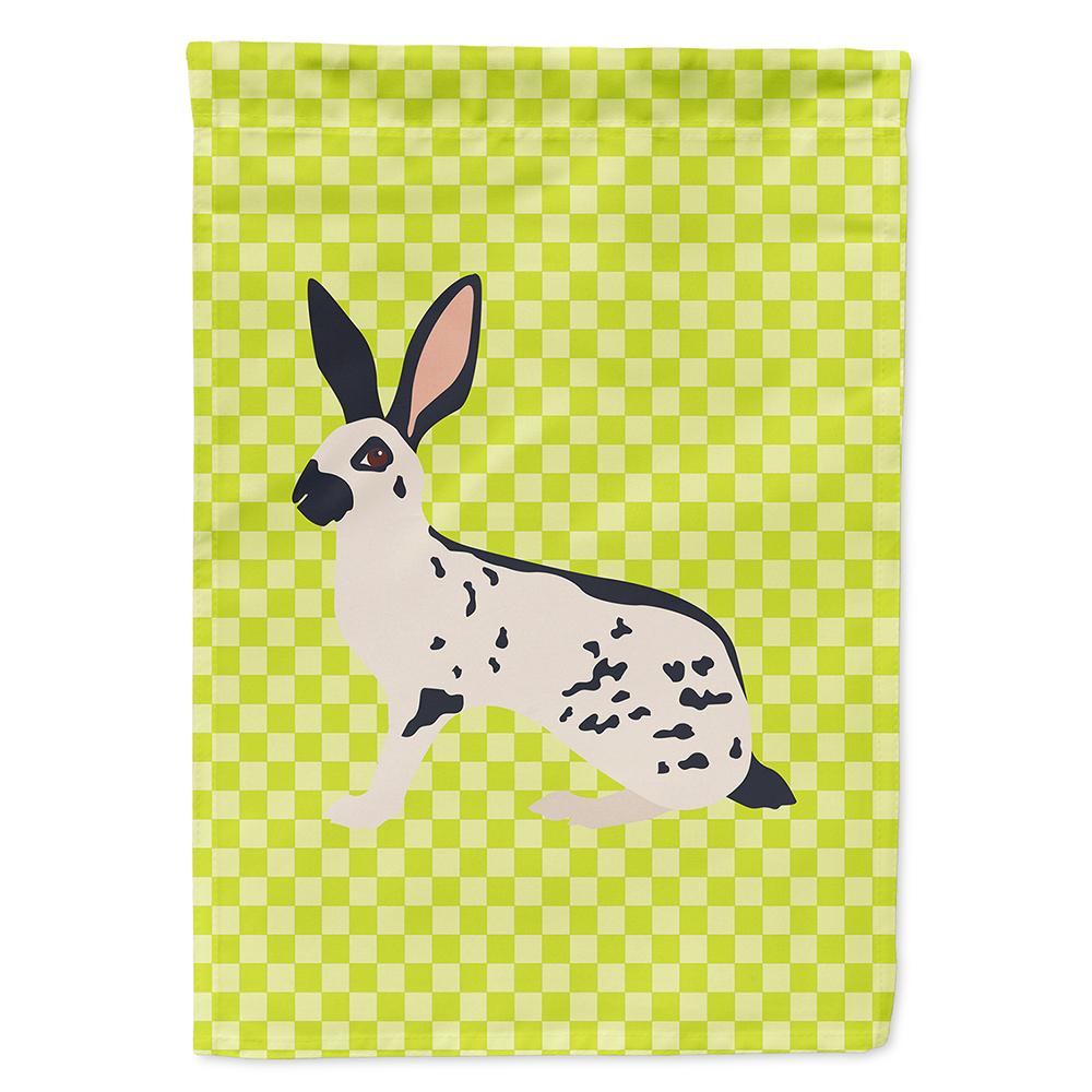English Spot Rabbit Green Flag Canvas House Size