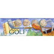 LPG Greetings Life Lines Golf Textual Art Plaque