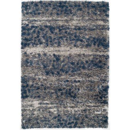 Dalyn Arturro Area Rugs - AT3 Shag & Flokati Denim Striped Faded Lines Distressed Rug