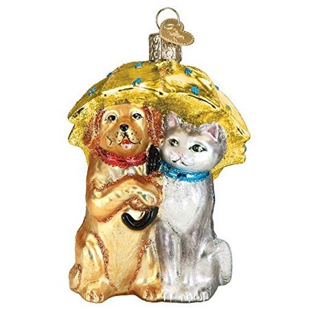 Old World Christmas Glass Blown Ornament Raining Cats and Dogs ()