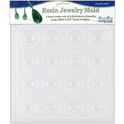 "Resin Jewelry Reusable Plastic Mold, Cabachons, 6-1/2"" x 7"""