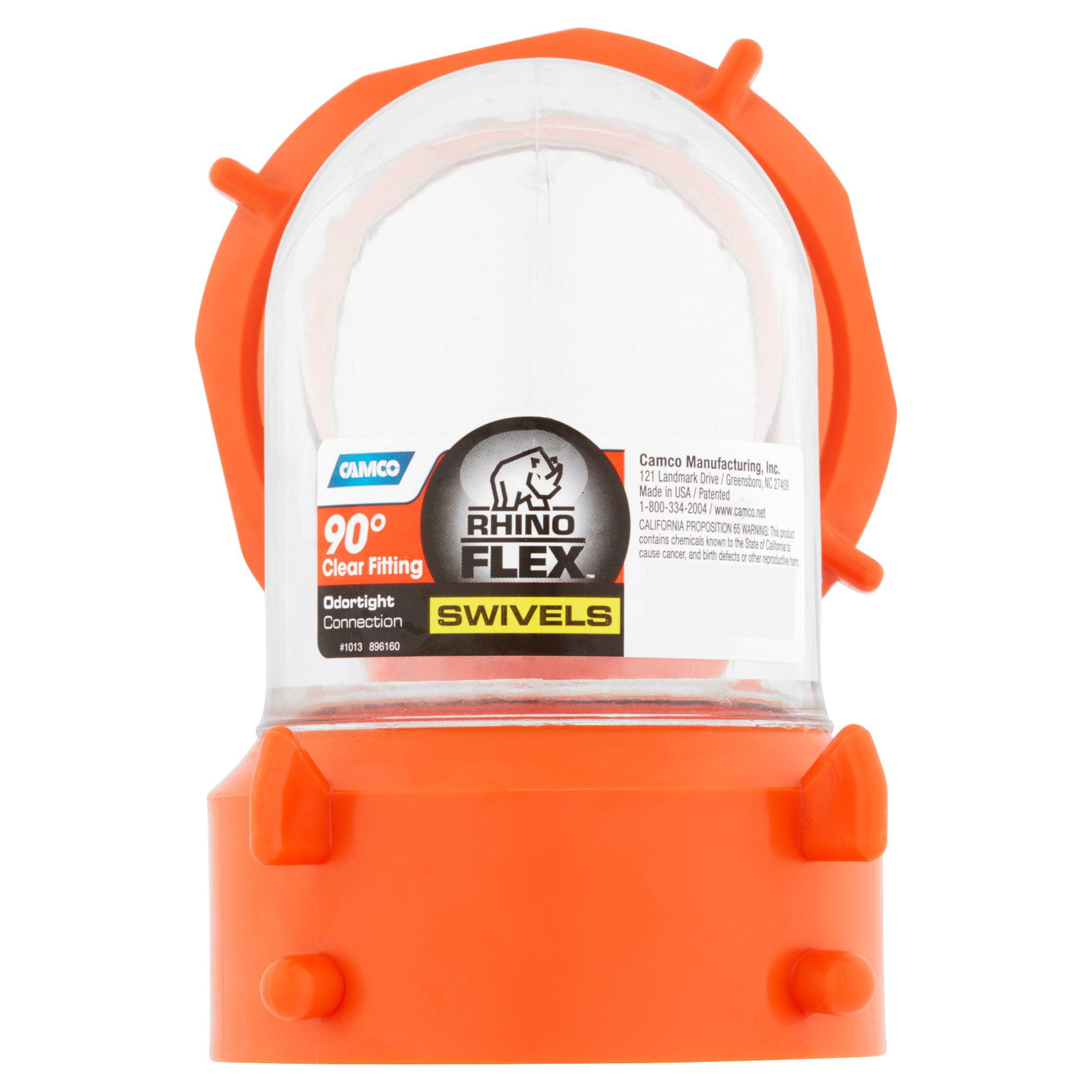 Camco Rhinoflex Swivels 90 Deg Clear Fitting Odortight Connection Walmart Com Walmart Com