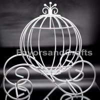 Cinderella Pumpkin Carriage Wedding Wire Centerpiece Coach Carroza de Cenicienta
