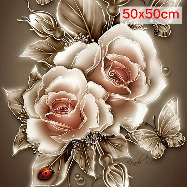 Covid Crafts 5D Diamond Landscape diamond painting flowers 5D Diamond Painting Kit diamond art painting flowers flowers diamond art