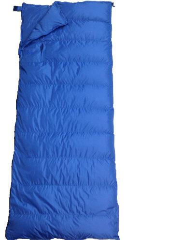 Down Filled Sleeping Bag Blue by